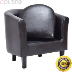 Tub Chair Brown Leather Sling Swivel Rocker Patio Dining Chairs Cheap Find Deals On Line At Get Quotations Colibrox Arm Pu Single Sofa Barrel Club Seat Furniture W