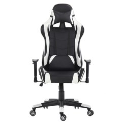 Swing Chair Game Desk Black Gaming Office Racing Ergonomic Backrest And Seat Height Adjustment Computer With Pillows Recliner
