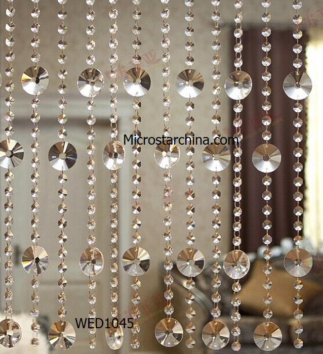 2015 In Stock Decorative Crystal Hanging Glass Beads