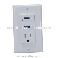Recessed Us Type Wall Power Socket With Usb Port - Buy Us ...