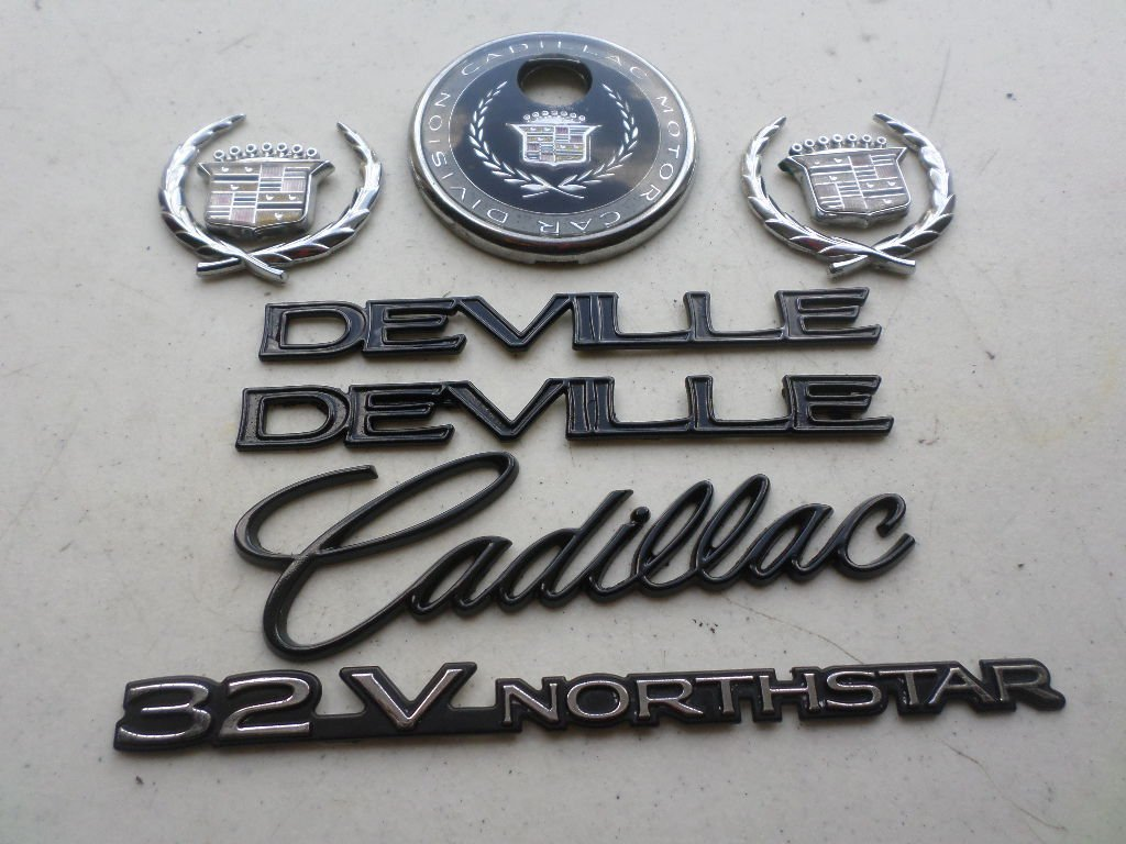 hight resolution of 96 99 cadillac deville 32v northstar side fender decal wreath crown rear trunk logo