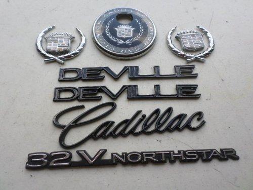 small resolution of 96 99 cadillac deville 32v northstar side fender decal wreath crown rear trunk logo