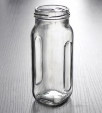 Wholesale Small Cheap Square Clear Glass Canning Jar For ...