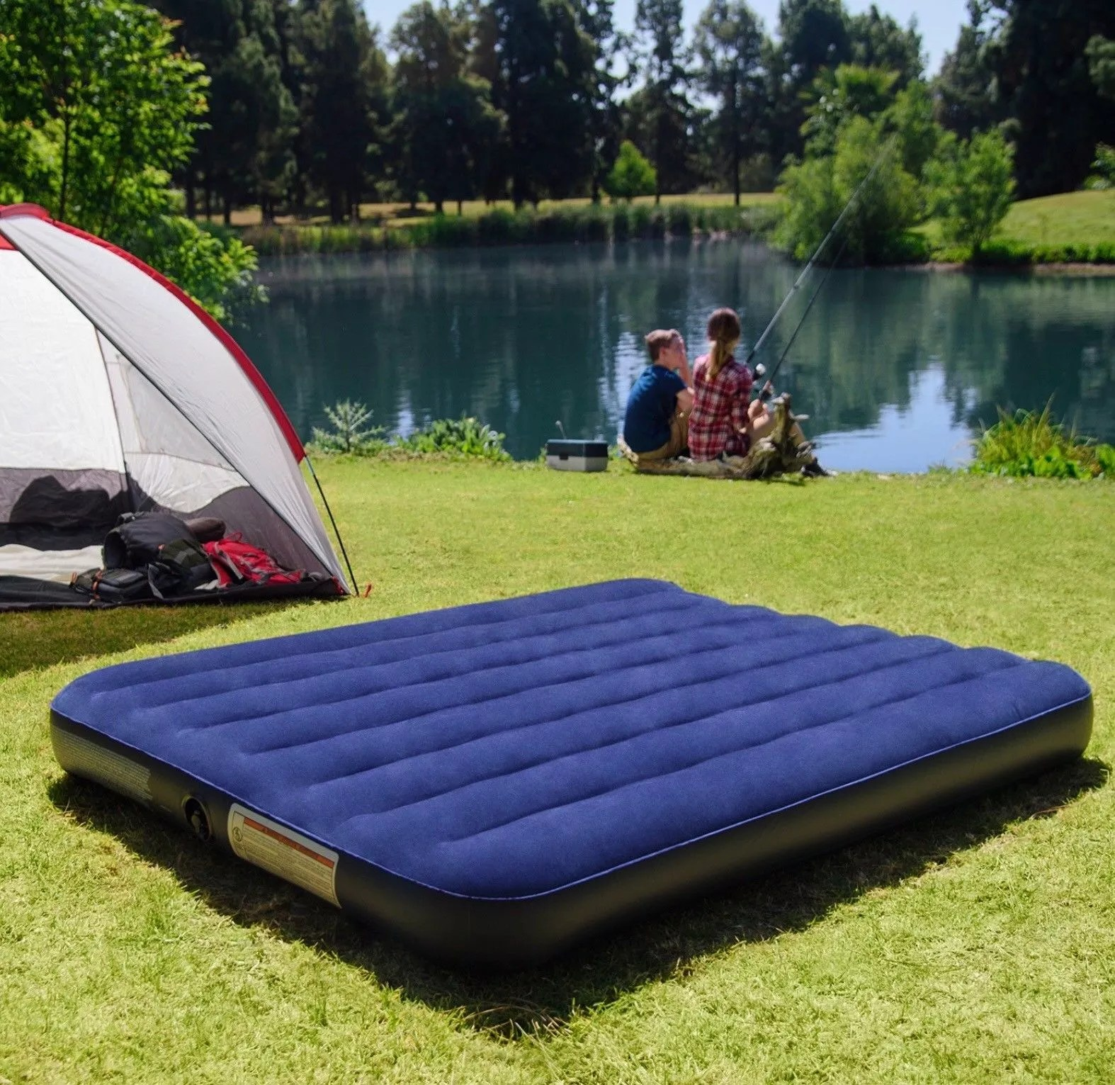 natureinox 64759 matelas gonflable de camping matelas a air pour voyage ou dormir la nuit buy lit gonflable de matelas d air de reine lit d air