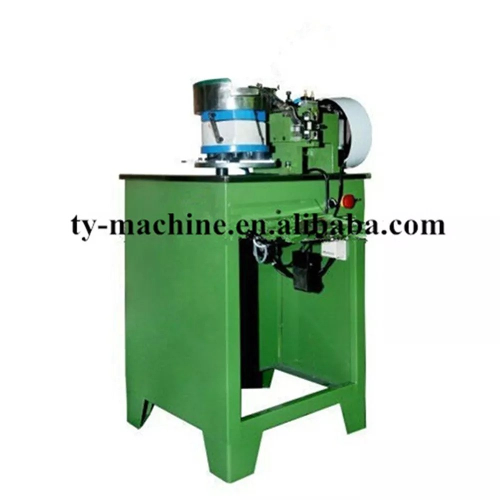 hight resolution of semi auto u type top stopper zipper metal machine