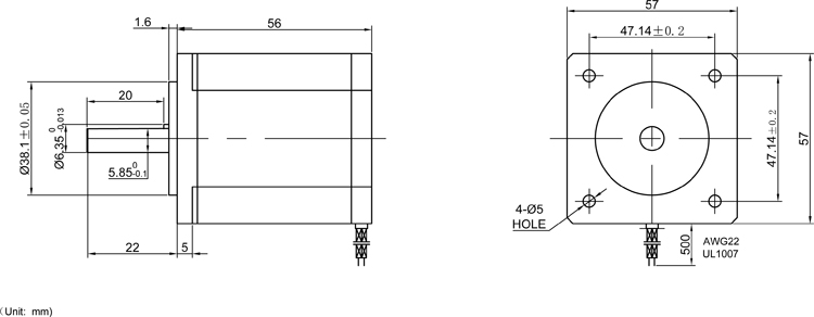 Threaded rod linear guide rail with motor and ball screw