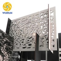White Iron Decorative Screen Divider Laser Cut Outdoor ...