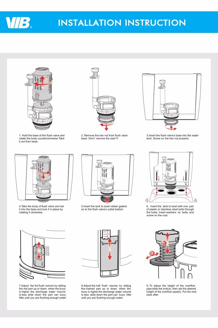 hight resolution of best quality watermark dual flush valve