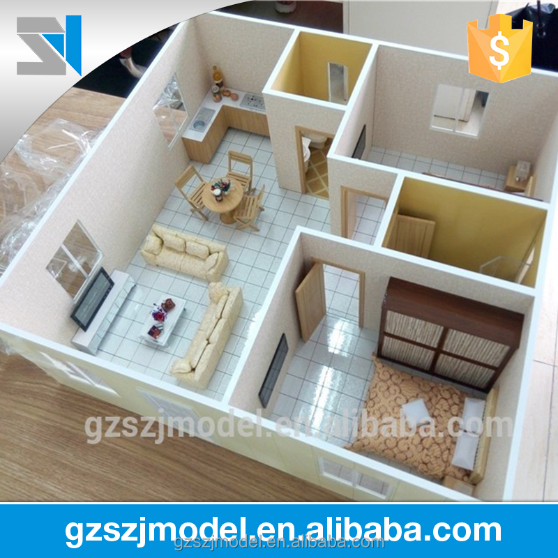 Interior design model making for 3d house model maker