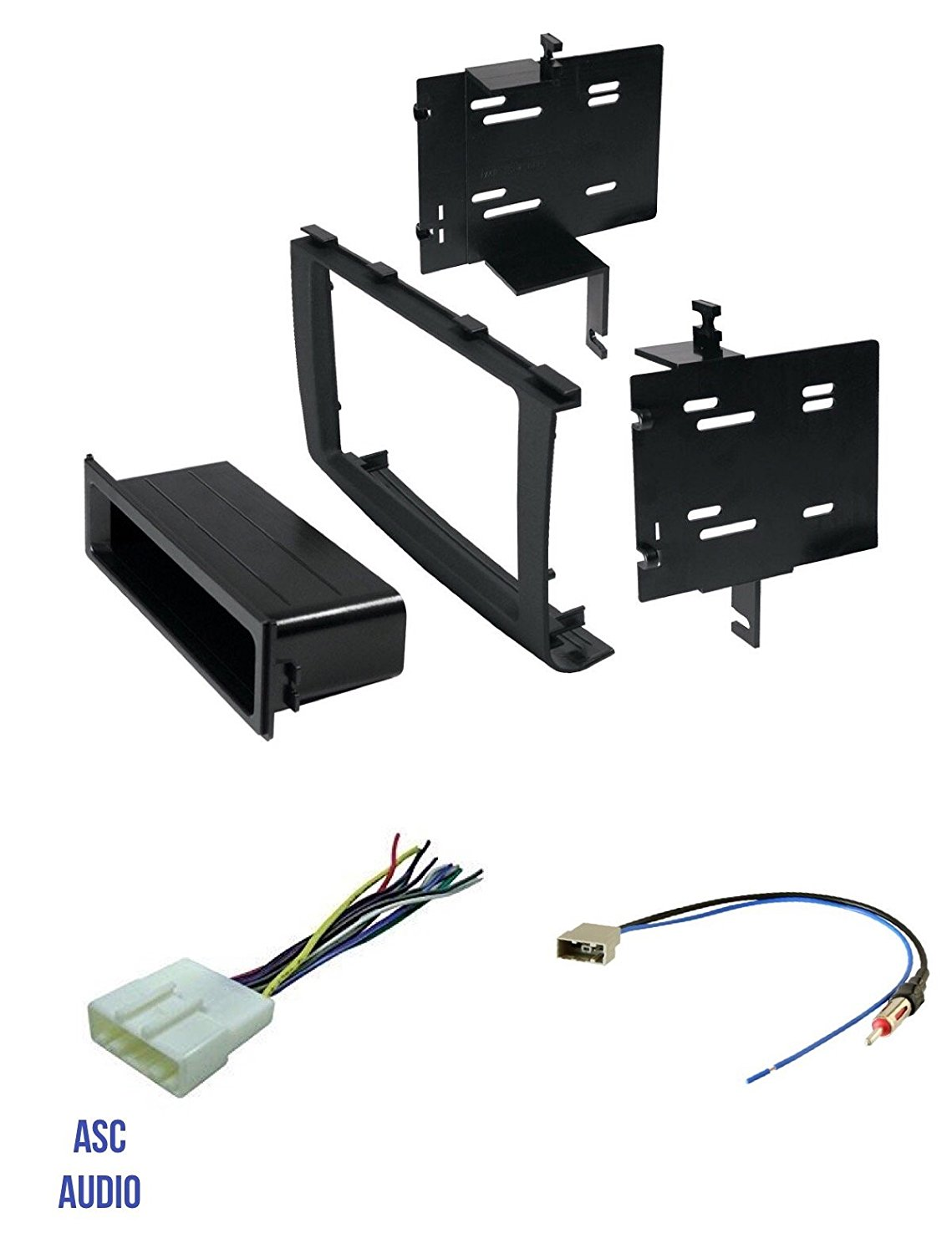 hight resolution of get quotations asc audio car stereo radio install dash kit wire harness and antenna adapter to