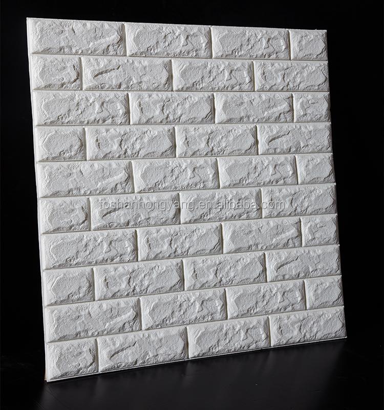 brick design foam wallpapers