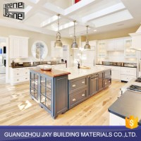 Wholesale German Modern Solid Rubber Wood Kitchen Cabinets
