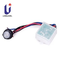 direct wire in photoelectric switch auto on off light switch with pcb with photodiode sensor [ 1000 x 1000 Pixel ]