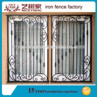 2016 Latest Modern Simple Iron Window Grill Design For
