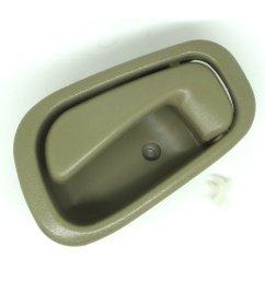 get quotations conpus inside door handle for 1998 2003 toyota corolla chevrolet tan left side 1998 1999 [ 1500 x 1500 Pixel ]