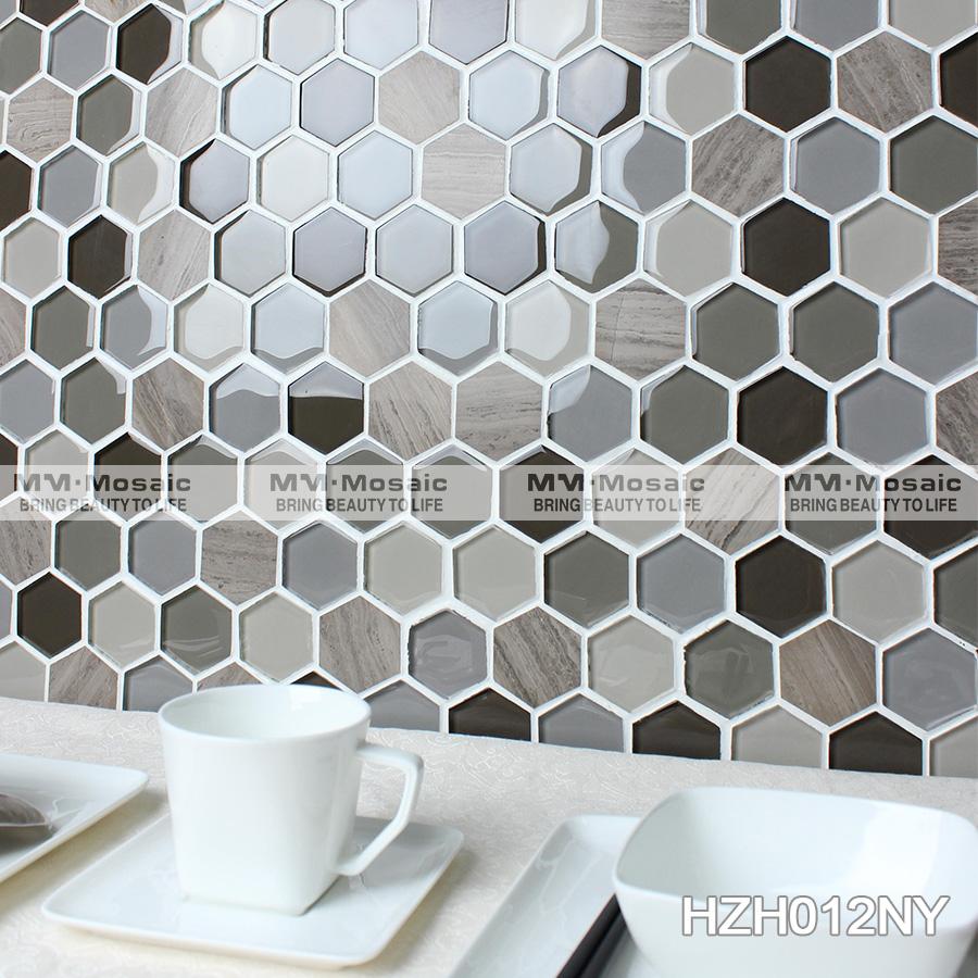2 esagono piastrelle cucina in vetro mosaicoMosaiciId prodotto700001170116italianalibabacom