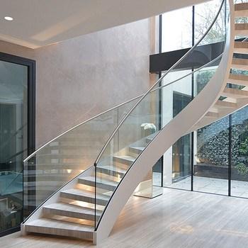 Staircase Glass Railing Designs Curved Staircase Cost Buy Curved | Curved Glass Staircase Railing | Half Circle | Aluminium | Tuffen | Interior Modern Glass | Stone Glass