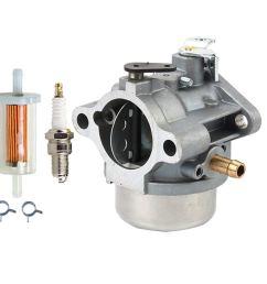 get quotations panari am132119 carburetor fuel filter spark plug for john deere stx30 stx38 stx46 12 5hp [ 1000 x 1000 Pixel ]