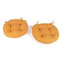 16 Round Bistro Chair Cushions Swing Egg Nz Cheap Seat Find Get Quotations Set Of 2 Outdoor Pads With Ties Retro Orange