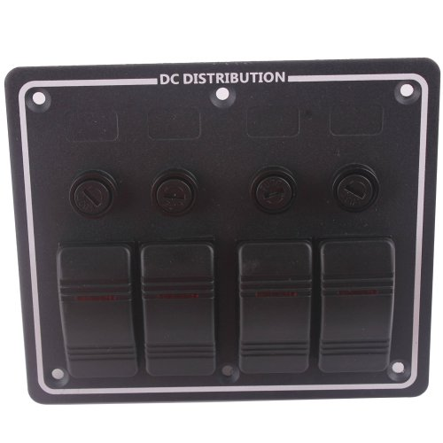 small resolution of black 4 gang dc 12v led boat rocker switch panel circuit breaker with auto fuses vertically