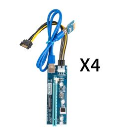 get quotations linkstyle 4 pack pci e riser for bitcoinlitecoin coin pcie ver 006c 6 pin [ 1500 x 1500 Pixel ]