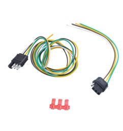 get quotations magideal 1 pair 4 way round trailer plug socket connector light wiring harness [ 1024 x 1024 Pixel ]