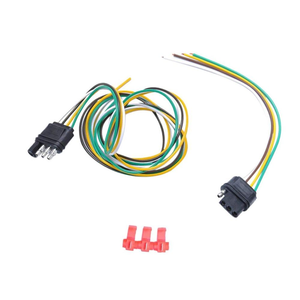 medium resolution of get quotations magideal 1 pair 4 way round trailer plug socket connector light wiring harness