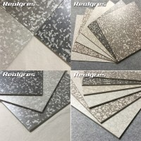 Rs6711 Terrazzo Grey Polished Porcelain Floor Tile 10mm ...