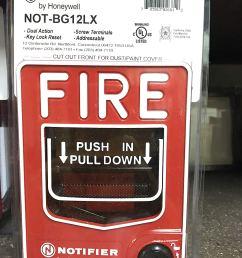 notifier not bg12lx addressable pull station [ 1125 x 1500 Pixel ]