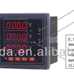 Digital Ac Ammeter Circuit Diagram Ez Boom Wiring Rs485 Modbus 220v Terminal And Voltmeter