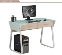 Tempered Glass Computer Desk With Keyboard Tray - Buy ...