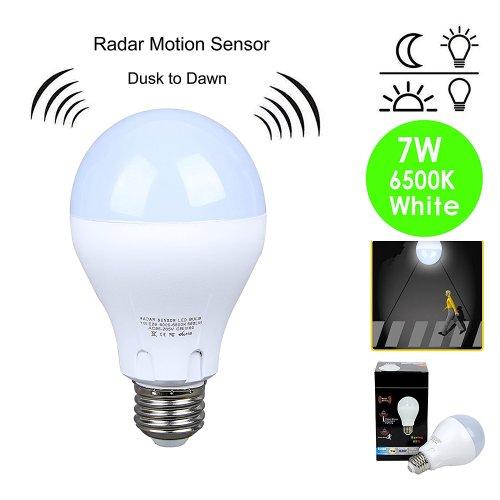 small resolution of get quotations motion sensor light bulb 7w 60w equivalent radar smart bulb dusk to dawn led