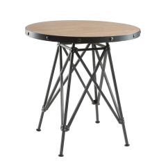 Antique French Bistro Table And Chairs Folding Chair Covers Black Cheap Find Get Quotations Svitlife Cooper Graphite Metal Base Elm Wood Cafe Restored