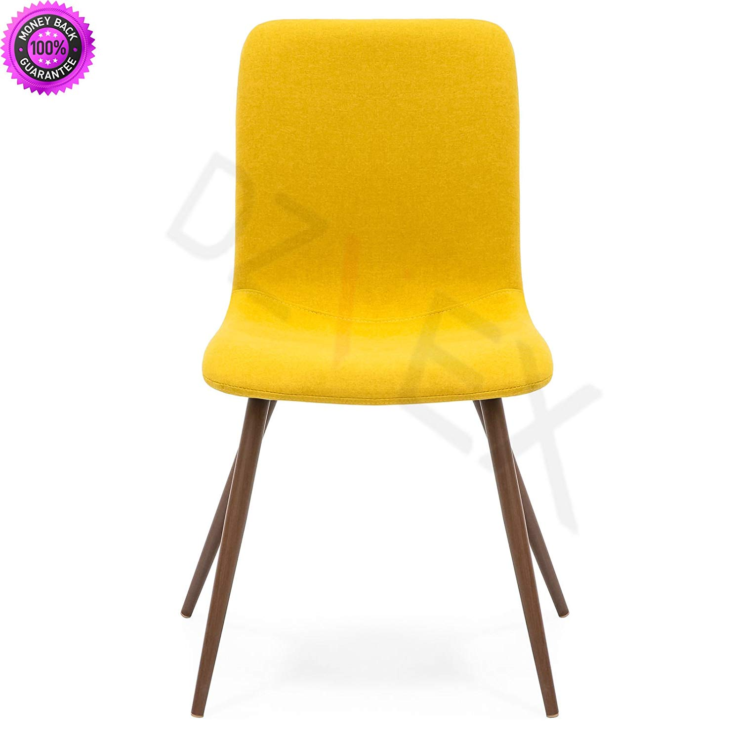 waiting room chairs for sale 2 person kitchen table chair sets cheap find deals on line at get quotations dzvex set 4 mid century modern dining fabric upholstery wood legs yellow and restaurant