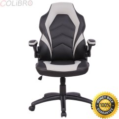 Ergonomic Office Chair Amazon Leather Sleeper Cheap Chari Find Deals On Get Quotations Colibrox Pu Race Car Style Bucket Seat Gaming Desk Task Gray