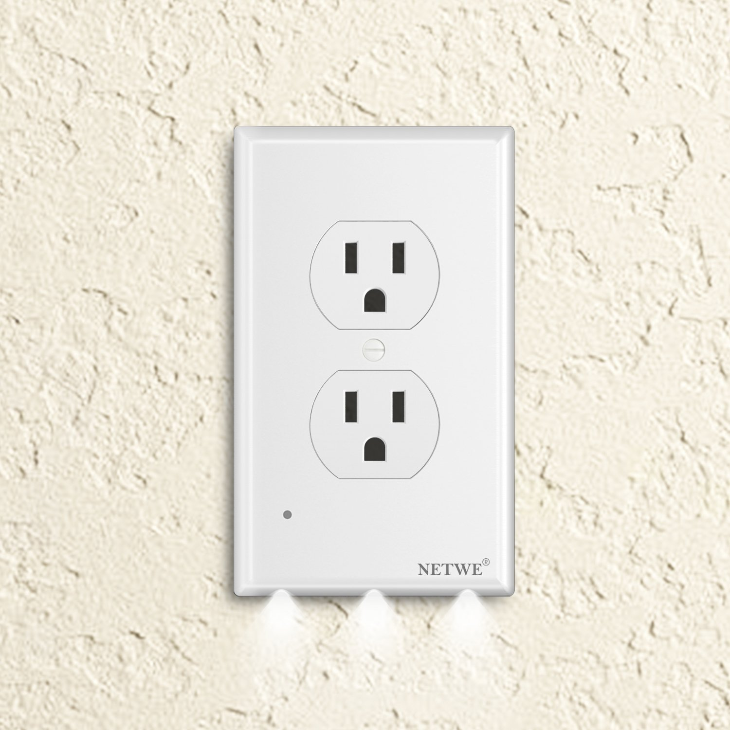 hight resolution of duplex outlet cover guidelight cover plate outlet wall plate cover with led night lights automatic brightness sensors no batteries or wires installs