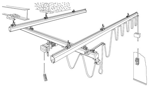 Double&single Girder Kbk Lifting Overhead Crane For Sale
