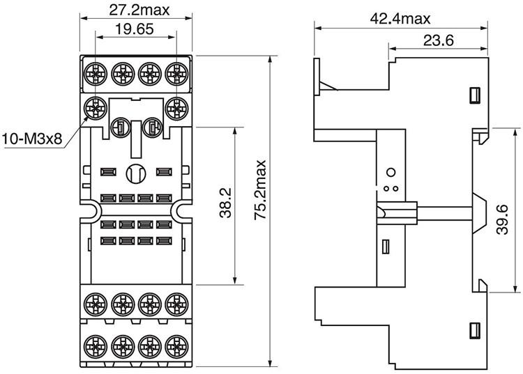 14 pin relay socket wiring diagram lungs human anatomy qianji electrical equipment supplies rt704 for my4