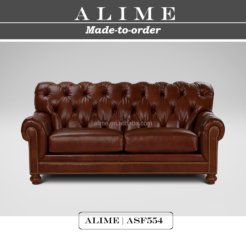 chesterfield sofa buy uk affordable sectional sofas canada alime furniture asf554 classic brown leather couch for living room