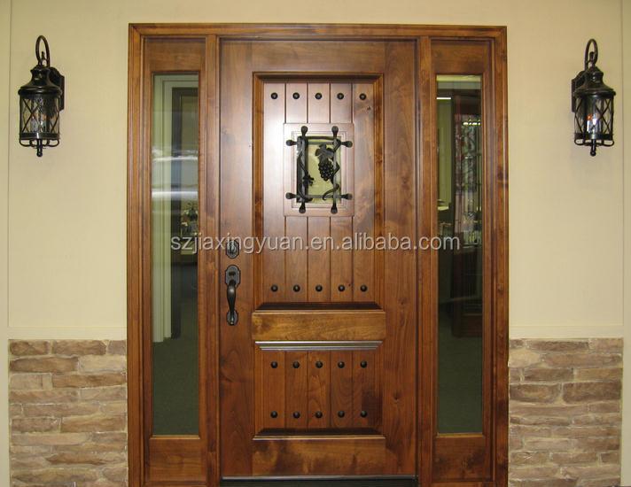 Traditional Wooden Single Main Door Design
