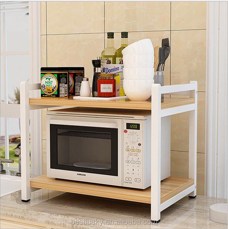 kitchen microwave storage shelf wooden microwave oven stand with metal frame buy kitchen microwave storage shelf wooden kitchen microwave storage
