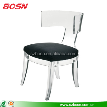 acrylic side chair with cushion dining room table and set clear ghost coffee back perspex lounge seat plexiglass furniture