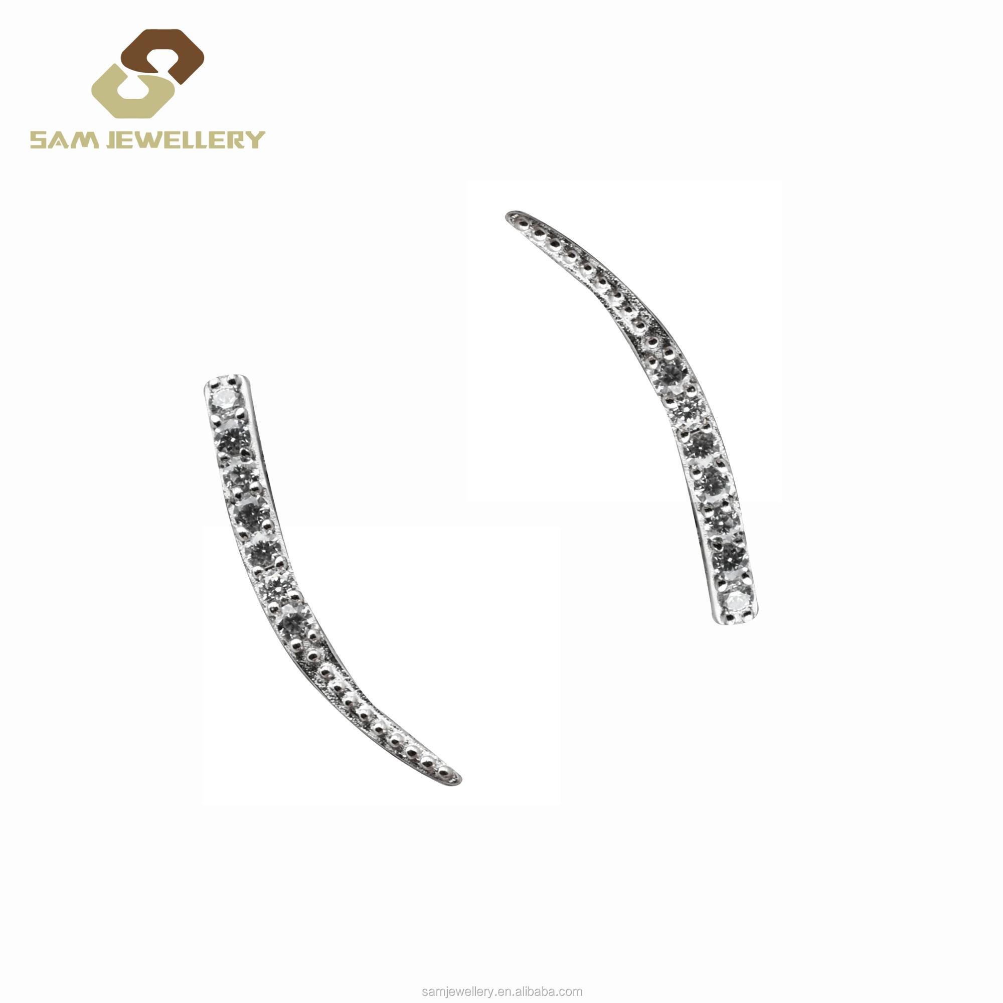 Oem High Quality Sterling 925 Silver Simple Sparkle Zircon