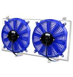 get quotations toyota mr2 aluminum bolt on cooling radiator fan shroud blue 2nd gen [ 1200 x 1200 Pixel ]
