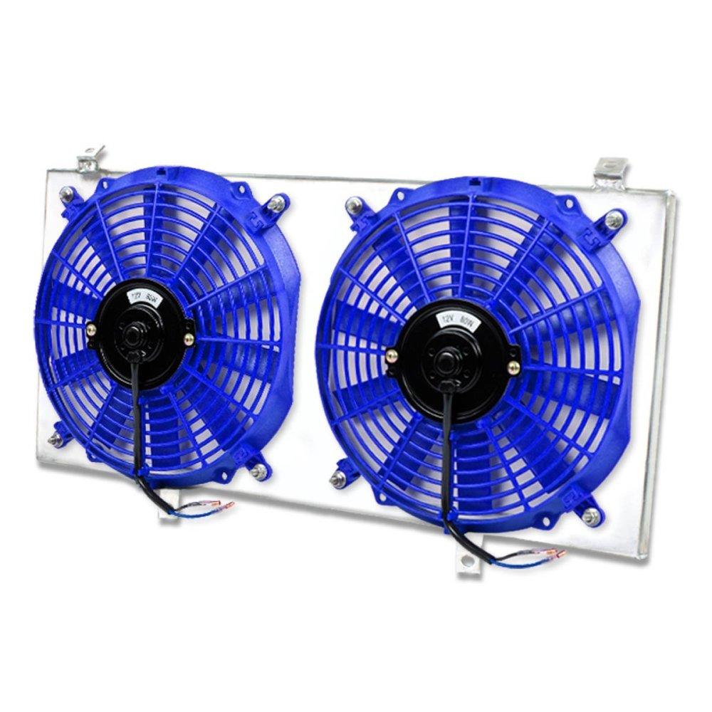 medium resolution of get quotations toyota mr2 aluminum bolt on cooling radiator fan shroud blue 2nd gen