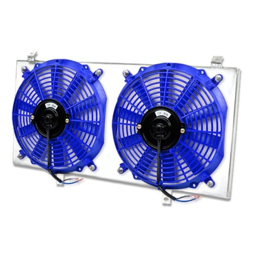 small resolution of get quotations toyota mr2 aluminum bolt on cooling radiator fan shroud blue 2nd gen