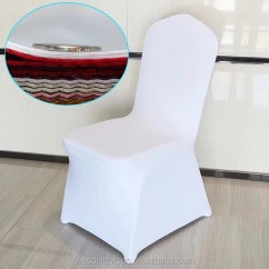 White Banquet Chair Covers Replacement Cord For Zero Gravity Chairs Wholesale Hotel Party Lycra Spandex Wedding Cover