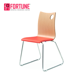 metal frame leather dining chair quill office chairs stainless steel seat pad hot sale in philippines