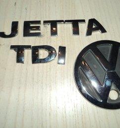 get quotations 01 05 vw jetta tdi rear trunk chrome individual emblem logo nameplate sticker ornament decorative [ 1500 x 1125 Pixel ]