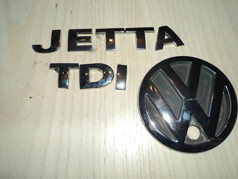 hight resolution of get quotations 01 05 vw jetta tdi rear trunk chrome individual emblem logo nameplate sticker ornament decorative